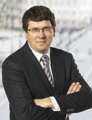 """Nekilnojamojo turto paslaugų bendrovės """"Newsec"""" tyrimų ir analizės paslaugų grupės vadovas Baltijos šalims Mindaugas Kulbokas."""