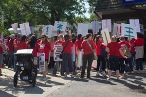Aktyviausi streike – didžiausią darbo stažą turintys pedagogai